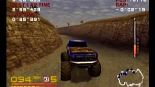 4 Wheel Thunder Dreamcast Intro + Gameplay