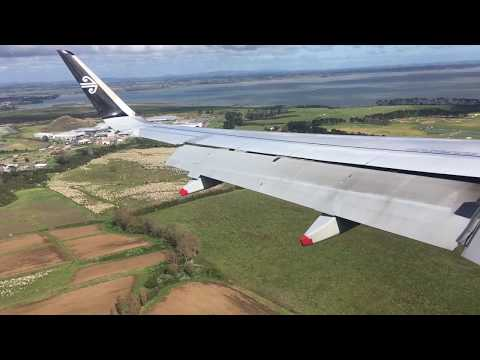 Beautiful day to land at Auckland international airport