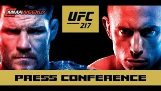 ufc 217 bisping vs st pierre post fight press conference