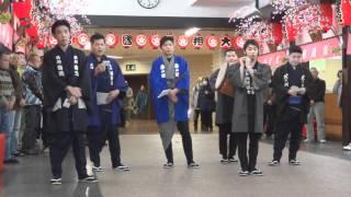 2012.1.7 平成24年大相撲初場所(一月場所)に先立ち、触れ太鼓が街中を廻...