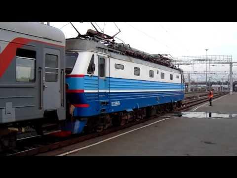 Первый рейс поезда №477У Челябинск — Адлер // Отправление ЧС2К-891