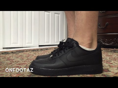 quality design d4c49 68394 Nike Air Force 1 Low Black On Foot