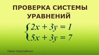 Система линейных уравнений  Проверка решения системы