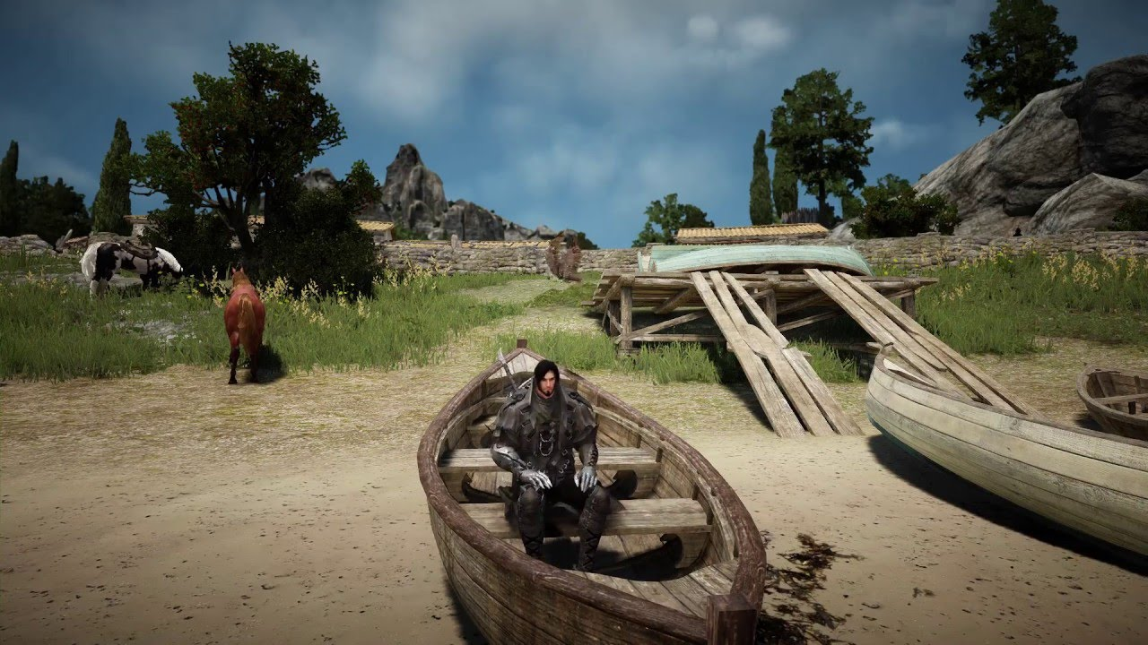 Black Desert Online - Building a Raft