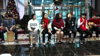 GSIS Acoustic Christmas 2015 || The Great Eight - I'm Not The Only One & Just the way you are