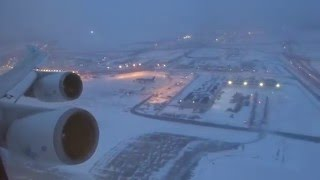 KLM 747-400 - O'hare to Amsterdam Takeoff After Snow Storm thumbnail