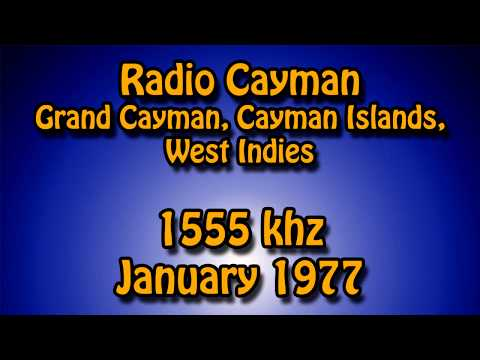 Radio Cayman, Cayman Islands, West Indies, 1555 khz, Jan 1977