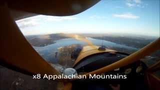 "Flight over the ""Appalachian Mountains"""