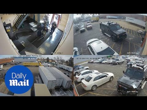 Illinois Police Release CCTV Of The Aurora Workplace Shooting