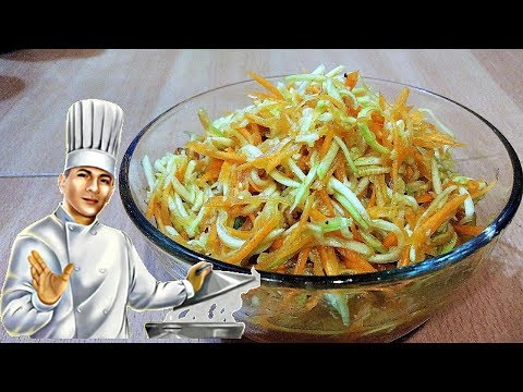 Быстрый салат из кабачков с морковью по-корейски