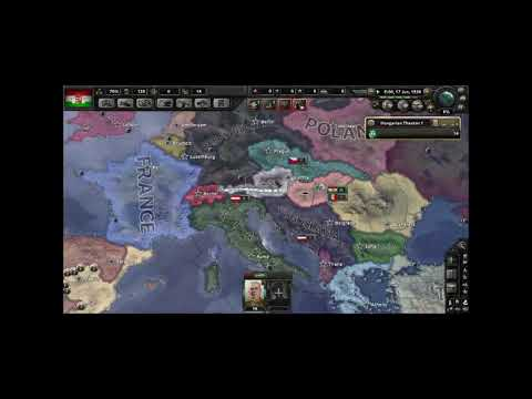 HoI4 Attempting to reunify the Austro-Hungarian Empire