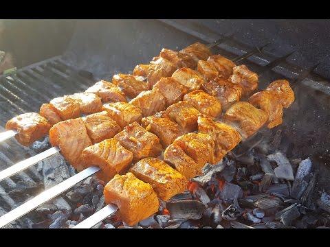 Persian Mahi Kabab / Salmon Kabob / Fish Kebab