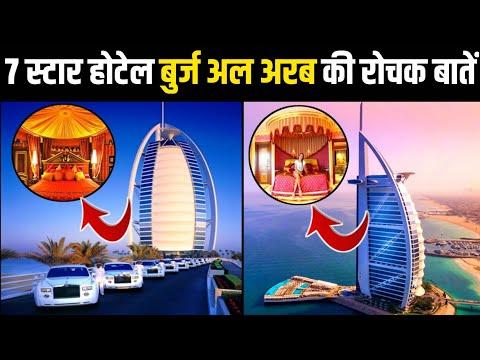 बुर्ज अल अरब की रोचक बातें 😳/ amazing facts about Burj Al Arab / Dubai 7 Star Hotel / #Shorts