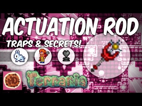 Terraria 1.3.1 Actuation Rod | Terraria New Items!