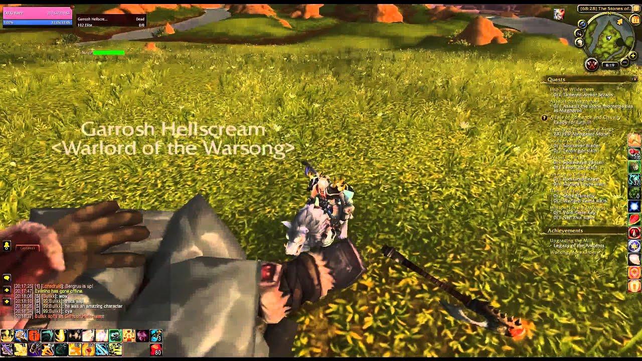 Where Is Garrosh Hellscream Corpse In Nagrand Youtube