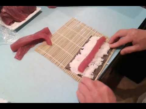 How to make a sushi roll giovanni 39 s fish market youtube for Giovanni s fish market