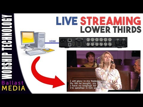 Live Streaming  Lower Thirds