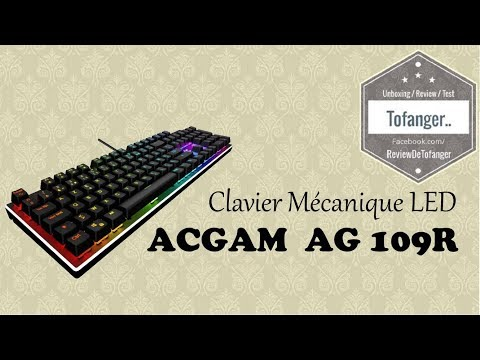 ACGAM AG 109R Mechanical Keyboard LED very nice ..
