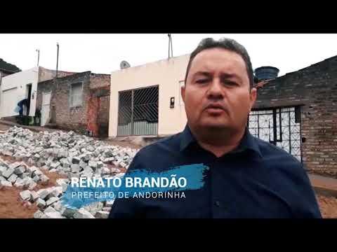 PREFEITURA FINALIZA OBRAS DE CALÇAMENTO NO BAIRRO CARLOS SANTANA E O PREFEITO FALA SOBRE AS PRÓXIMAS PAVIMENTAÇÕES