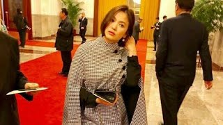 Song HyeKyo Looking Stunning at Dinner with Korean President, Representing their Economy with China