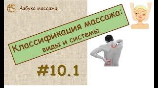 Классификация массажа: виды и системы | Урок 10, часть 1 | Обучение массажу
