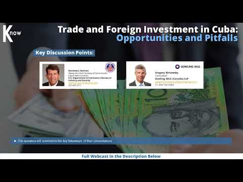 Trade and Foreign Investment in Cuba
