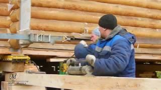 Перемещение деревянного дома 16х18 на 100 метров