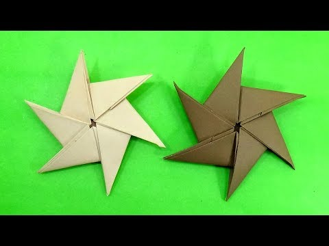 How To Make Six Pointed Throwing Paper Ninja Star (Shuriken) - Best Paper Toy For Kids