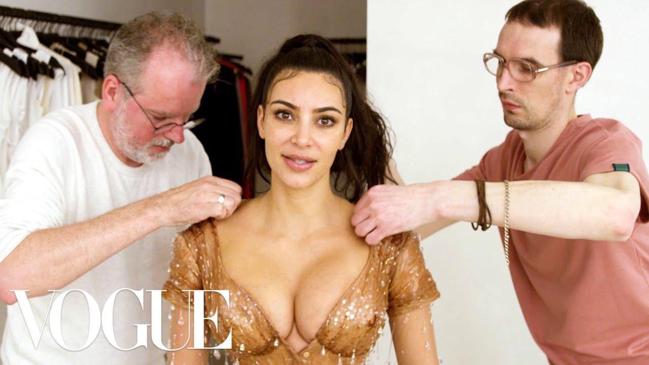 Download Kim Kardashian West Gets Fitted for Her Waist-Snatching Met Gala Look | Vogue