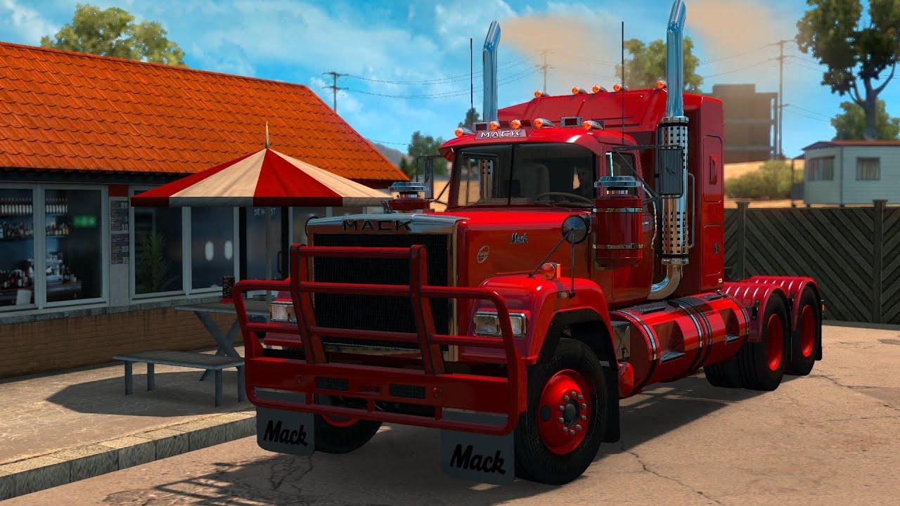 american truck simulator mack superliner youtube. Black Bedroom Furniture Sets. Home Design Ideas