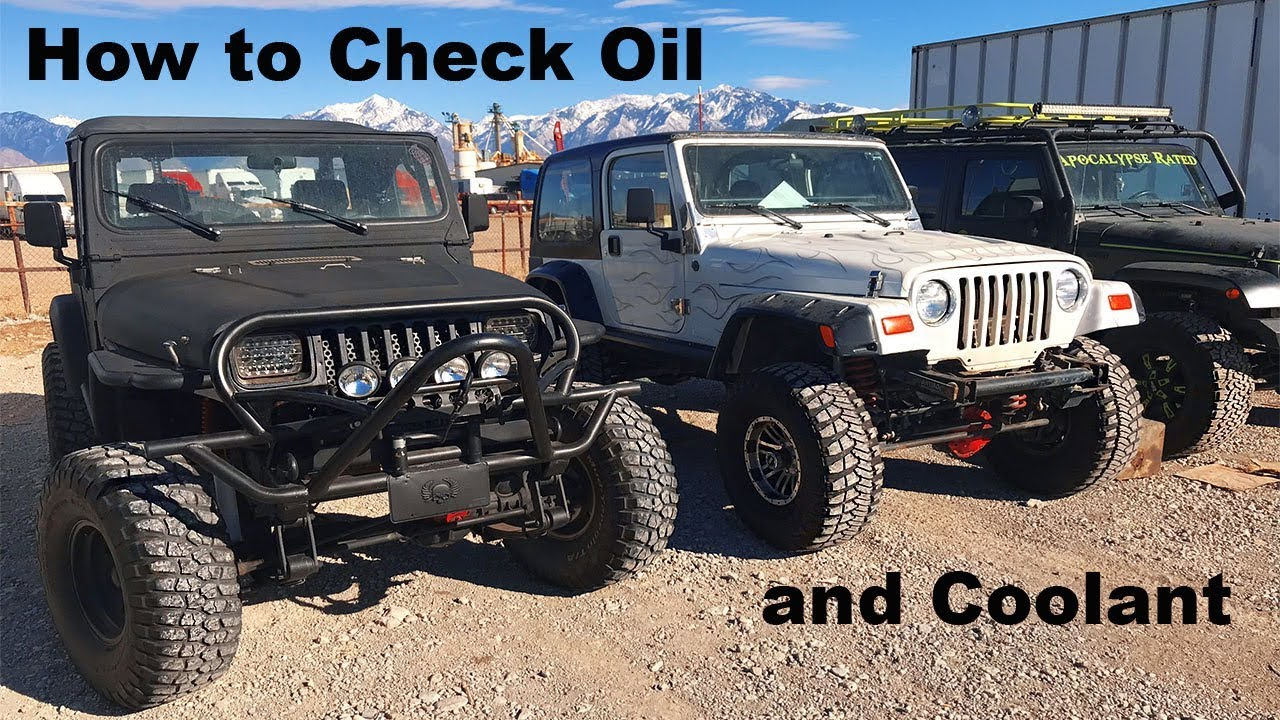 How To Check Your Coolant And Oil On A Jeep Wrangler Youtube Engine