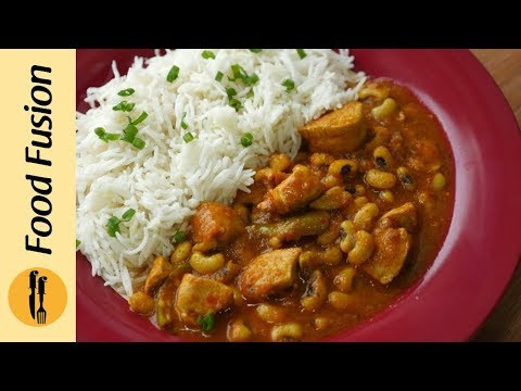 Chicken Lobia Chicken Bean Curry With Beet Root Pickle Recipe By