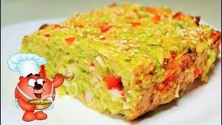 Рецепт запеканки из кабачков, сыра, яиц, болгарского перца
