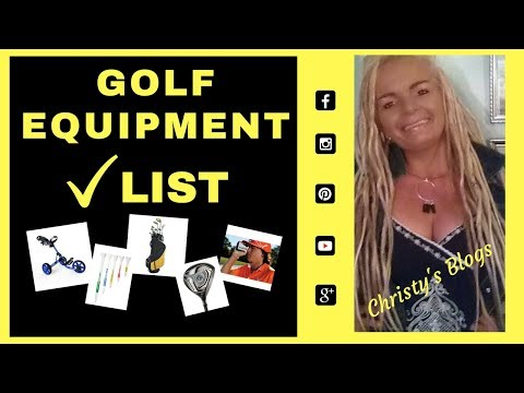 GOLF EQUIPMENT LIST - Clubs, Golf Gloves, Golf Tees, Etc...