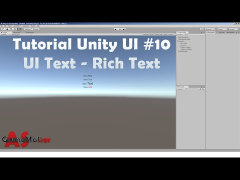 Tutorial Unity UI #10 UI Text - Rich Text - YouTube