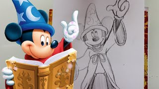 How to Draw SORCERER MICKEY MOUSE - @dramaticparrot