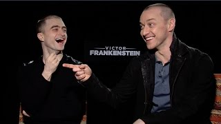 """'Victor Frankenstein': Watch Daniel Radcliffe and James McAvoy Play """"Would You Rather"""""""
