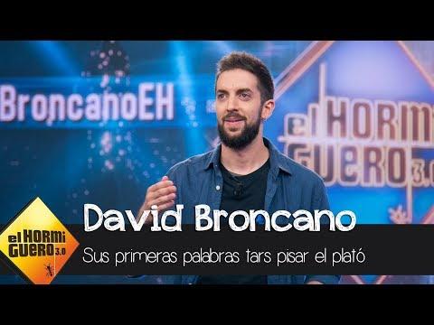 Las primeras palabras de David Broncano al pisar el plató de 'El Hormiguero 3.0' - El Hormiguero 3.0