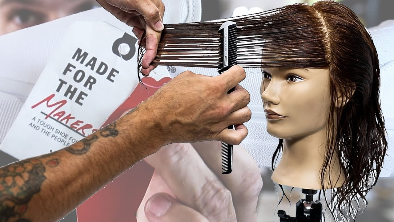 Simple Layered Haircut Tutorial and The Perfect Shoes for Hairdressers IMO   MATT BECK VLOG S10 EP 10