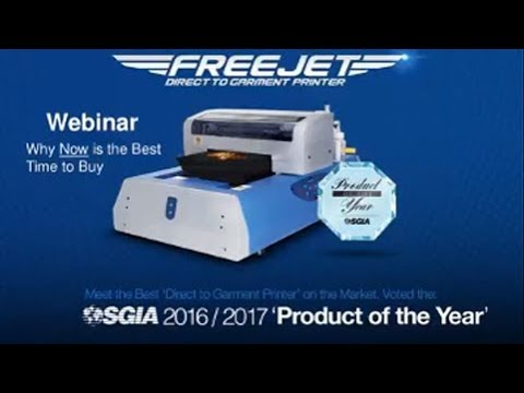 Why Now is the Best Time to Buy a Direct to Garment Printer - Webinar