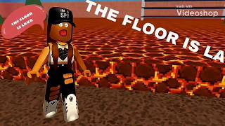 The Floor is Lava (ROBLOX) *Glossy first video*