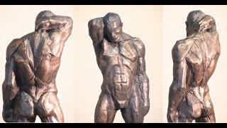Уроки скульптуры и рисунка: этюд фигуры человека, часть 8, торс