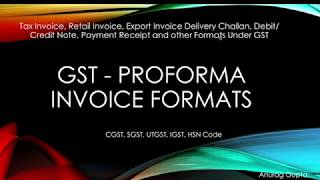 GST 2017: GST Invoice Format full explanation with CGST, SGST and  IGST