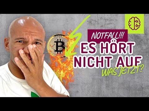 NOTFALL !! Bitcoin im freien FALL ! Was mache ICH SOFORT !? Schnell gucken !! Coach Cecil
