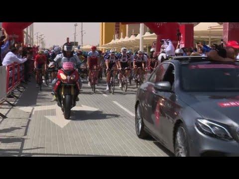 انطلاق سباق ابو ظبي للدراجات الهوائية
