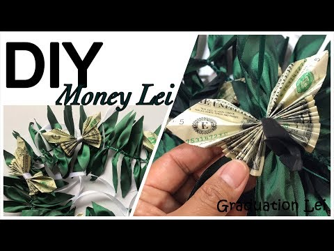 How to Make Lei Out of Fabric / DIY Money Lei  #62