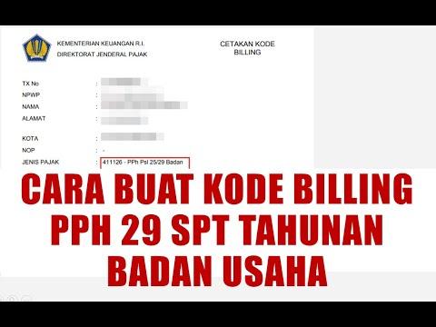 Kode Billing Pph 29 Badan Usaha