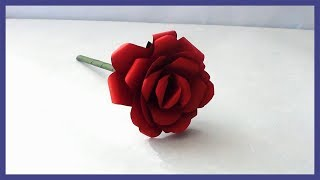 DIY Simple & Easy Realistic Paper Rose Tutorial | How to Make  Paper Flowers