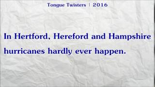 #443   Hertford, Hereford and Hampshire Hurricanes Hardly Ever Happen