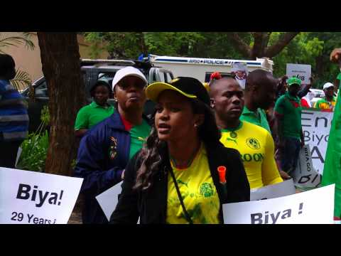 Protest Action @ Cameroon Embassy, South Africa 24 Feb